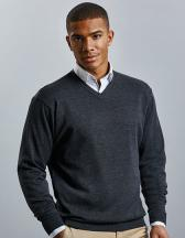 Men`s V-Neck Knitted Pullover