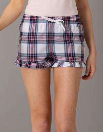 Women´s Tartan Frill Lounge Shorts