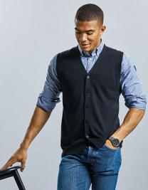 Men`s V-Neck Sleeveless Knitted Cardigan